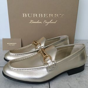 Burberry Solway Light Gold Leather loafers